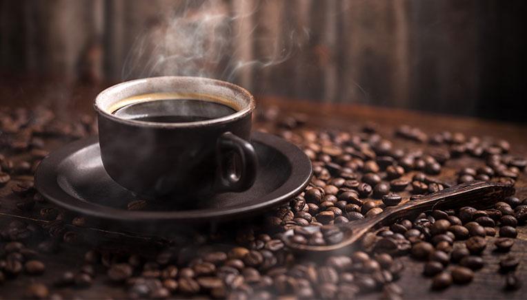 koffein i en kaffekopp